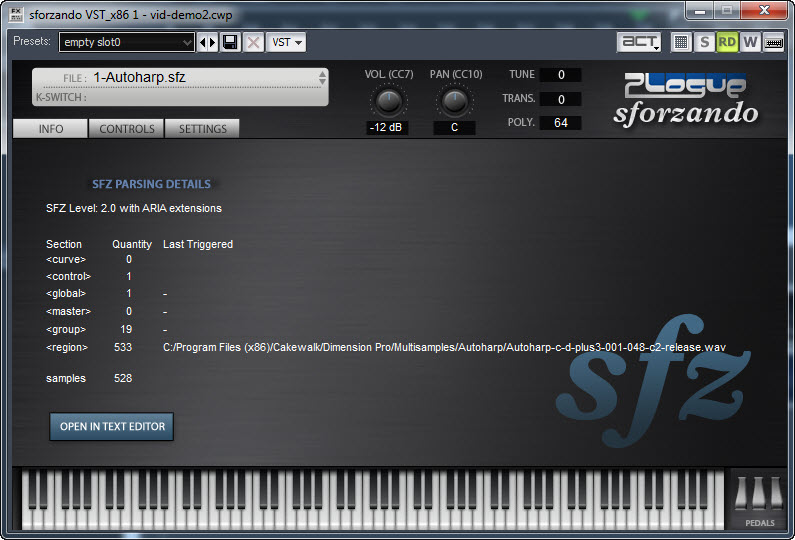 FREE Sforzando SFZ player and FREE sounds/instruments: Northern